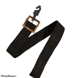 14th & Union Belt faux braided straw bamboo buckle